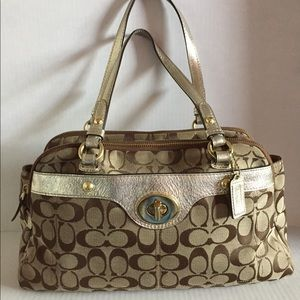 Authentic Coach F16542 Signature Satchel